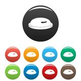 Kondoma ikona ustawiający kolor ilustracji