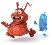 kondombakterie stock illustrationer