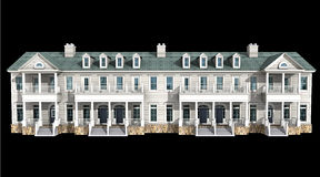 kondominium model 3 d Zdjęcia Royalty Free