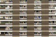 Kondominiumblock-Musterhintergrund Stockbilder