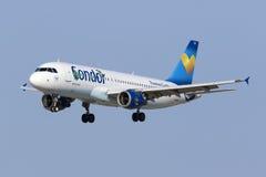 Kondor A320 in der speziellen Livree Lizenzfreie Stockfotografie