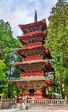 Kondygnaci pagoda przy Gu świątynią w Nikko zdjęcia stock