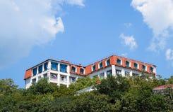 Kondygnacja dom na górze Hotel dla wczasowiczek Obrazy Stock
