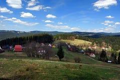Konecna settlement in Moravskoslezske Beskydy Stock Photography
