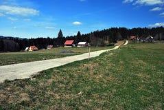 Konecna settlement in Moravskoslezske Beskydy Royalty Free Stock Photos