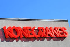 Konecranes Signage and Blue Sky Royalty Free Stock Image