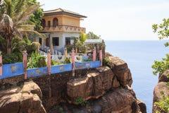 Koneswaram Kovil tempel och Swami Rock Trincomalee Sri Lanka arkivfoton