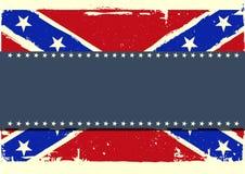 Konfederaci chorągwiany tło Obrazy Royalty Free