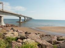 Konfederacja Przerzuca most obrazy royalty free