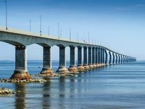 Konfederacja Przerzuca most PEI w Maritimes zdjęcia royalty free