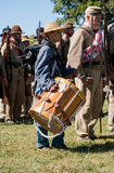 Konfederacyjna chłopiec z bębenem obraz stock