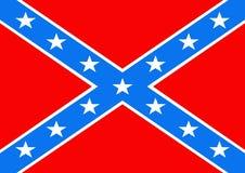 konfederacyjna flagę Fotografia Royalty Free