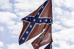 konfederacyjna flaga Zdjęcia Royalty Free