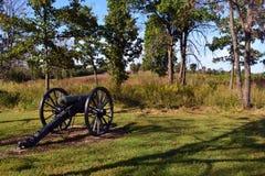 Konfederacyjna linia przy Krwistym wzgórzem przy Wilson zatoczką Zdjęcie Royalty Free