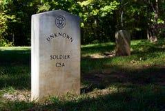 konfederacyjnego żołnierza nieznane obraz stock