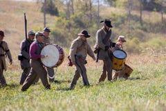 Konfederacyjni żołnierze fotografia stock