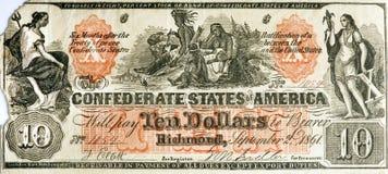 Konfederacyjni stany Ameryka podrobienie Bill fotografia stock