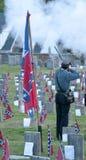 Konfederacyjny cmentarz z salutem nieboszczyk Zdjęcia Royalty Free