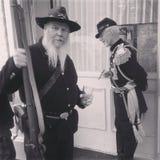 Konfederacyjnych żołnierzy aktorzy zdjęcia stock