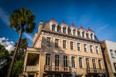 Konfederat szkoła wyższa w Charleston & dom, Południowa Karolina zdjęcie royalty free