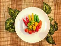 Konfekt, löschbare nachgemachte Früchte (Kanom-Blick Choup in thailändischem) Stockfoto