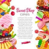 Konfekt och sötsak royaltyfri illustrationer
