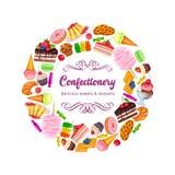 Konfekt och sötsaker royaltyfri illustrationer