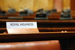 konferenci pustej sala wysokości królewski siedzenie Zdjęcia Royalty Free