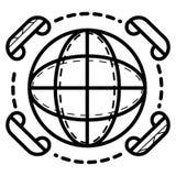Konferenci telefonicznej ikona ilustracji