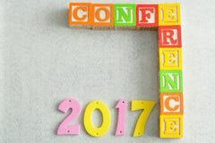 Konferencja 2017 obrazy stock
