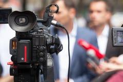 Konferencja prasowa dziennikarz Zdjęcia Royalty Free