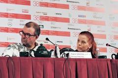 Konferencja prasowa 37 film Zdjęcia Royalty Free