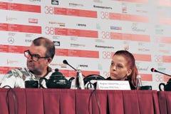 Konferencja prasowa 37 film obrazy royalty free