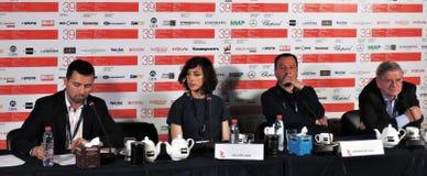 Konferencja prasowa filmu odjazd przy 39th Moskwa Międzynarodowym Ekranowym festiwalem Obraz Royalty Free