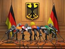 Konferencja prasowa lub odprawa prezydent o lub najważniejszy minister royalty ilustracja