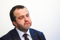Konferencja prasowa przy ABLV bankiem w Ryskim obrazy royalty free