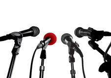 konferencja prasowego wektora Obrazy Stock