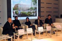 Konferencja przy Łękowatym Moskwa 2017 obrazy royalty free