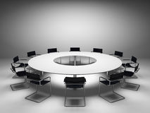 Konferencja stół Fotografia Stock