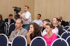 konferencyjne dziewczyny siedzą dwa Zdjęcie Royalty Free