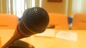 Konferencyjnego mikrofonu Stereo system Zdjęcia Stock