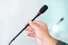 Konferencyjny mikrofon Obrazy Royalty Free