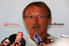 konferencyjny Perpignan prasowi usa Zdjęcia Royalty Free