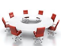 konferencyjny stół Obraz Royalty Free