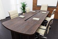 Konferencyjny stół Fotografia Stock