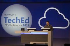 konferens 2012 teched microsoft royaltyfri foto