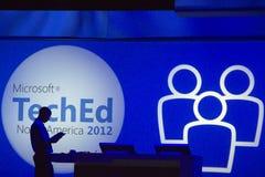 konferens 2012 teched microsoft royaltyfria foton