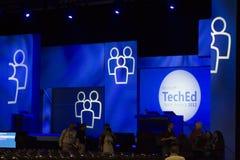 konferens 2012 teched microsoft arkivbild