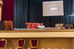 Konferens för begreppsmässig design för TED X NAPOLI arkivbilder