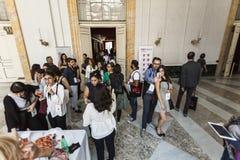 Konferens för begreppsmässig design för TED X NAPOLI Arkivfoton
